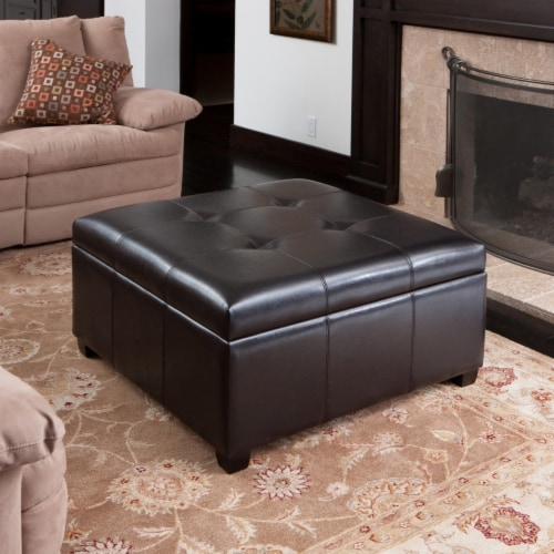 Carlyle Versatile Stylish Storage Ottoman Perspective: front