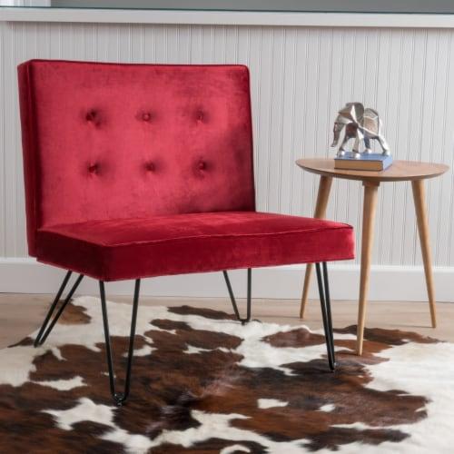 DuSoleil New Velvet Modern Armless Chair Perspective: front