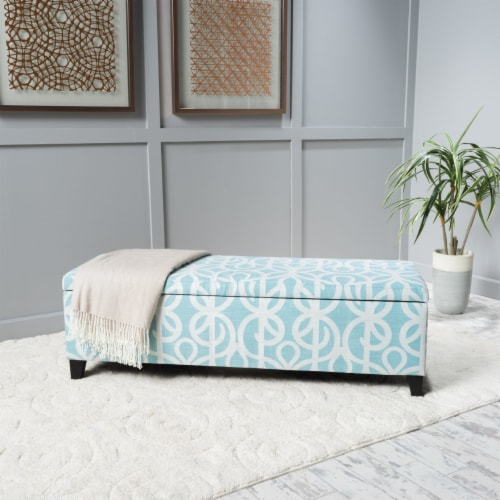 Clor Chic & Modern Storage Ottoman Perspective: front