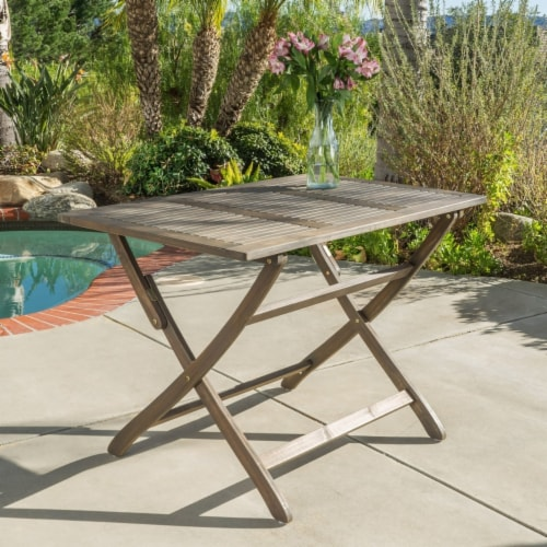 St. Nevis Outdoor Folding Table Perspective: front
