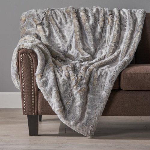 Tuscan Warm & Comfy Fabric Throw Blanket Perspective: front
