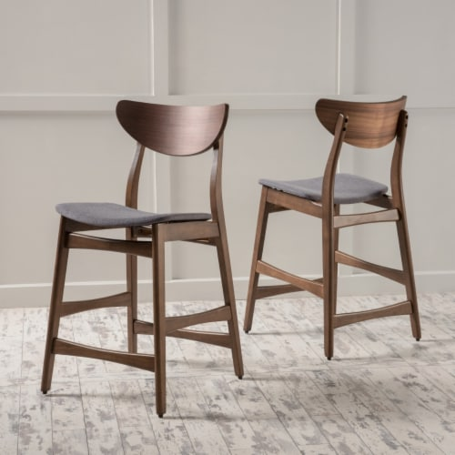 Molle Mid Century Design 24-Inch Counter Stools (Set of 2) Perspective: front