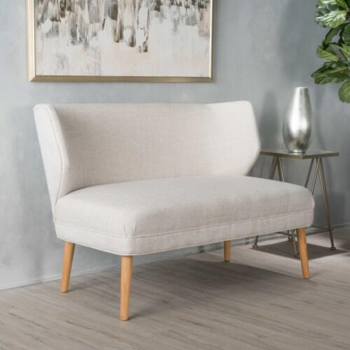 Dumont Mid Century Modern Fabric Loveseat Sofa Settee Perspective: front
