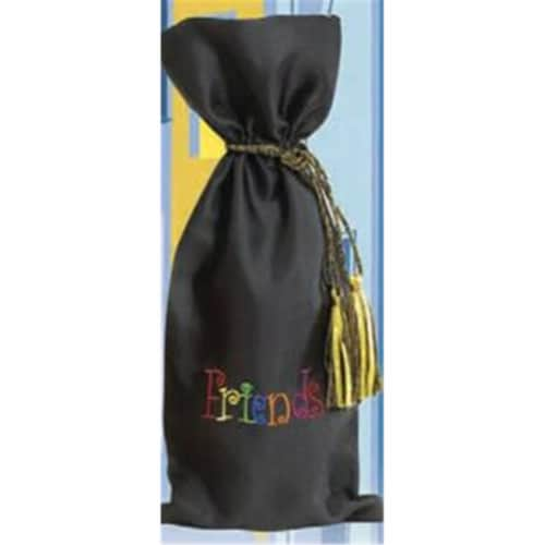 Joann Marie Designs Embroidered Wine Bag - Friends Pack of 12 Perspective: front