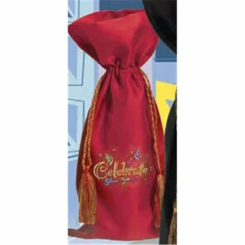 Joann Marie Designs Embroidered Wine Bag - Celebrate Pack of 12 Perspective: front