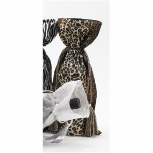 Joann Marie Designs Printed Wine Bag - Leopard Pack of 12 Perspective: front