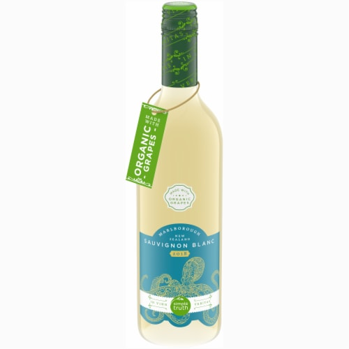 Simple Truth™ Marlborough New Zealand Sauvignon Blanc Bottle Perspective: front