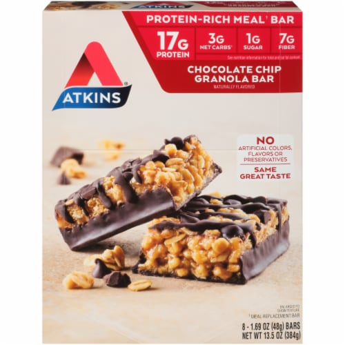 Atkins® Chocolate Chip Granola Meal Bars Perspective: front