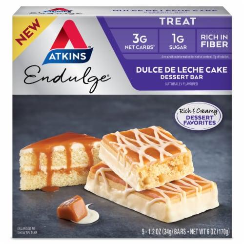 Atkins Endulge Dulce De Leche Cake Dessert Bars Perspective: front