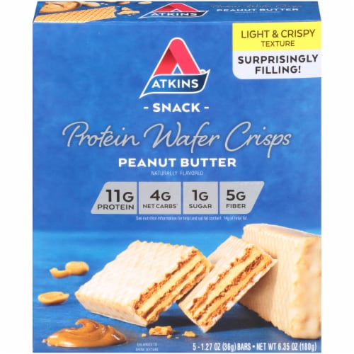 Atkins Peanut Butter Protein Wafer Crisps Perspective: front