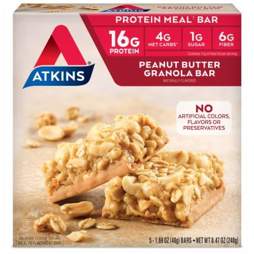 Atkins Advantage Peanut Butter Granola Bars Perspective: front