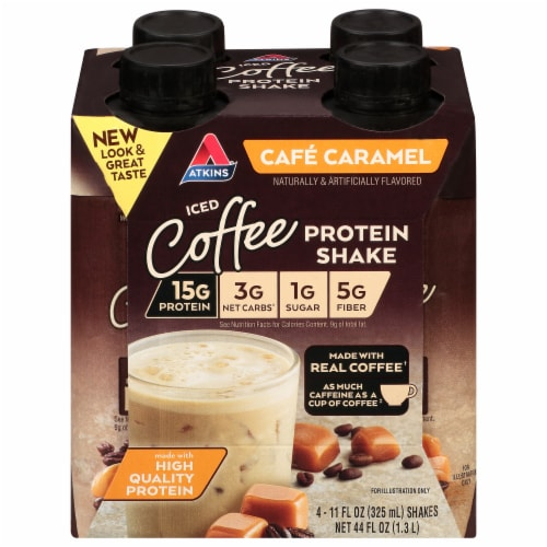 Atkins® Cafe Caramel Protein-Rich Shakes Perspective: front