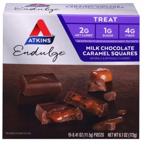 Atkins Endulge Milk Chocolate Caramel Squares Perspective: front