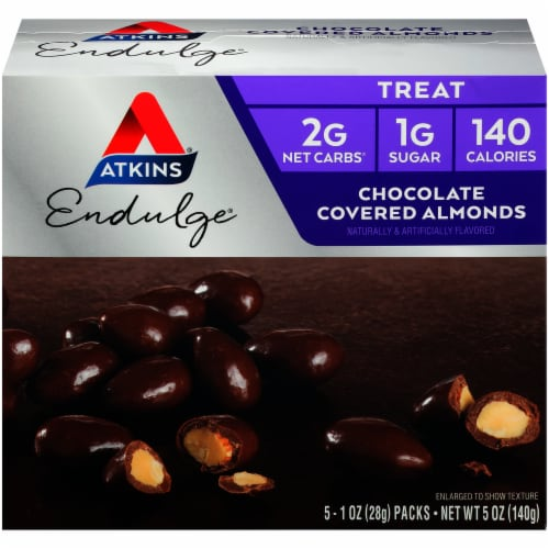 Atkins Endulge Chocolate Covered Almonds Perspective: front