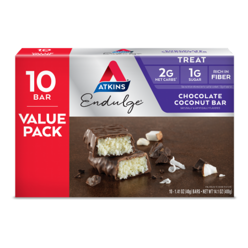 Atkins Endulge Chocolate Coconut Treat Bars Perspective: front