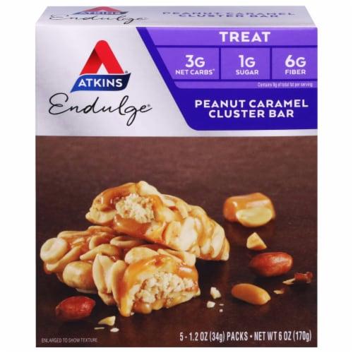 Atkins Endulge Peanut Caramel Cluster Treat Bars Perspective: front