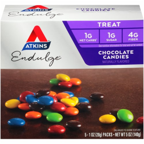 Atkins Endulge Chocolate Candies Perspective: front