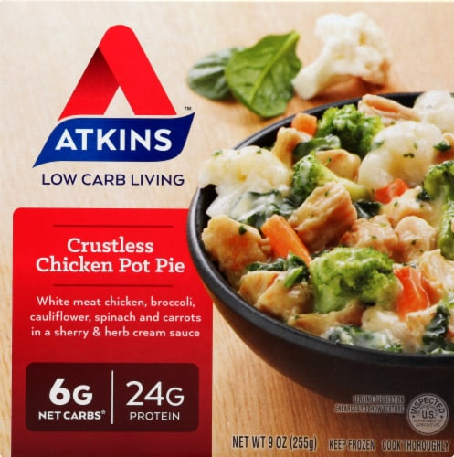 Atkins Crustless Chicken Pot Pie Perspective: front