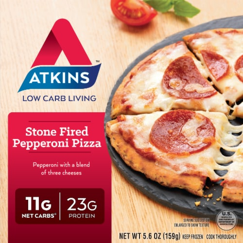 Atkins Stone Fired Pepperoni Pizza Perspective: front