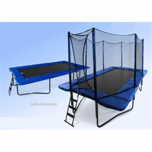 JumpSport UNJ-U-11361A JumpSport Rect. StageBounce System with Encl V3 Perspective: front