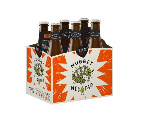 Troegs Nugget Nectar 6 pack Perspective: front