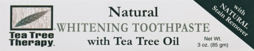 Tea Tree Therapy Natural Whitening Toothpaste Perspective: front