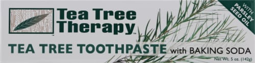 Tea Tree Therapy Natural Toothpaste with Baking Soda Perspective: front