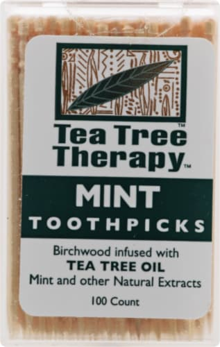 Tea Tree Therapy Mint Toothpicks Perspective: front