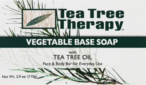 Tea Tree Therapy Vegetable Base Soap Bar Perspective: front