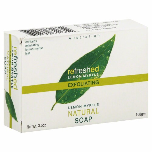 Refreshed Lemon Myrtle Exfoliating Soap Perspective: front