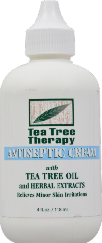 Tea Tree Therapy Antiseptic Cream with Tea Tree Oil Perspective: front