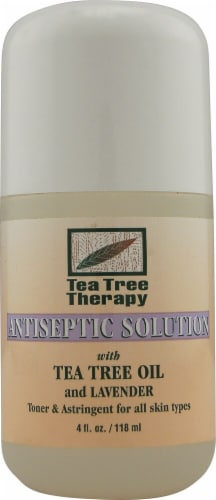 Tea Tree Therapy  Antiseptic Solution Tea Tree Oil and Lavender Perspective: front