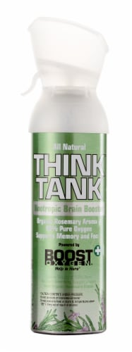 Boost Oxygen Think Thank Nootropic Brain Booster Organic Rosemary Aroma Oxygen Perspective: front