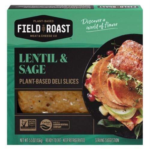 Field Roast Lentil & Sage Plant-Based Deli Slices Perspective: front