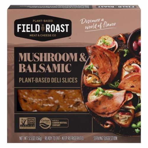 Field Roast Mushroom & Balsamic Plant-Based Deli Slices Perspective: front