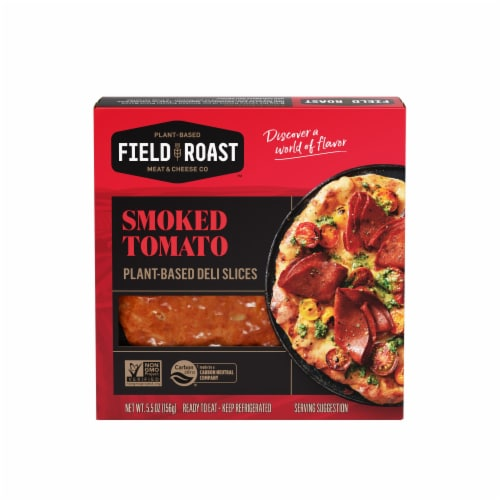 Field Roast Smoked Tomato Plant-Based Deli Slices Perspective: front