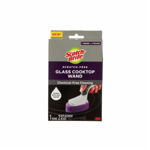 Scotch-Brite™ Glass Cooktop Wand - White/Purple Perspective: front