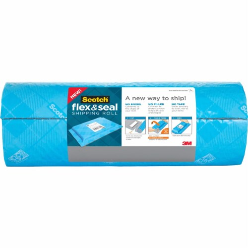 Scotch Flex and Seal Shipping Roll, 15  X 20 Ft, Blue/Gray FS1520 Perspective: front