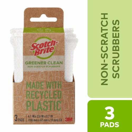 Scotch-Brite™ Greener Clean Non Scratch Scrubbers Perspective: front