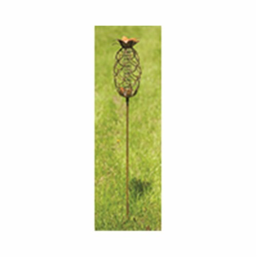 Ancient Graffiti ANCIENTAG17161 Flamed Pineapple Rain Gauge Stake - Pack of 2 Perspective: front