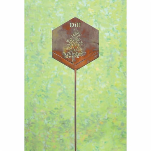 Ancient Graffiti ANCIENTAG86058 Dill Herb Stake - Pack of 4 Perspective: front