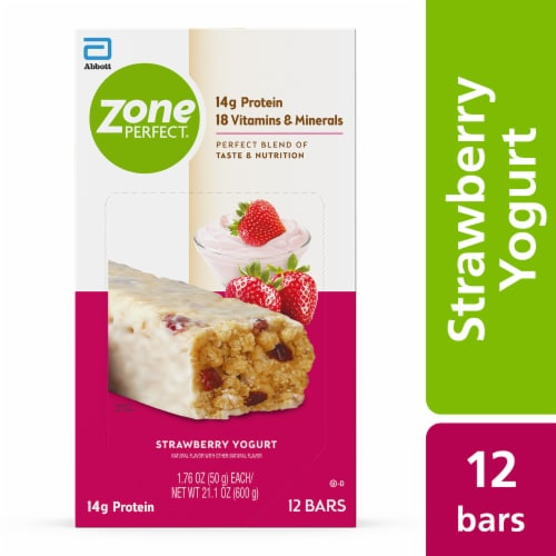 ZonePerfect Strawberry Yogurt Bars Perspective: front