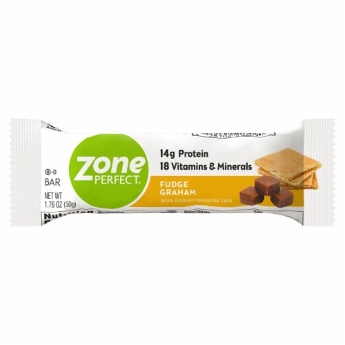 ZonePerfect Fudge Graham Bar Protein Bar Perspective: front