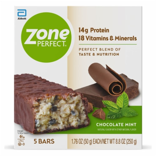 ZonePerfect® Chocolate Mint Nutrition Bars Perspective: front