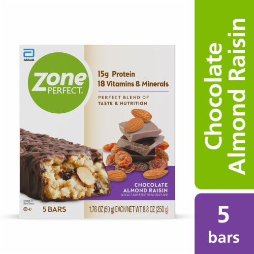 ZonePerfect® Chocolate Almond Raisin Nutrition Bars Perspective: front