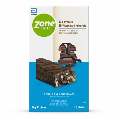 ZonePerfect® Double Dark Chocolate Nutrition Bars Perspective: front