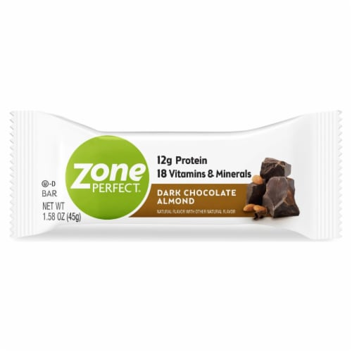 ZonePerfect Double Dark Chocolate Protein Bar Perspective: front
