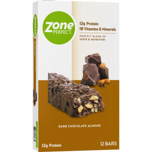 ZonePerfect® Dark Chocolate Almond Nutrition Bars Perspective: front