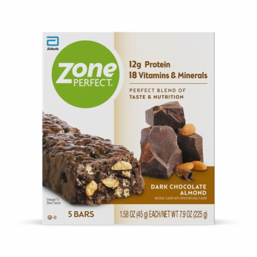 ZonePerfect Dark Chocolate Almond Nutrition Bars Perspective: front