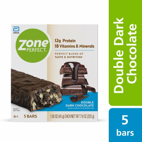 ZonePerfect® Double Dark Chocolate Protein Bars Perspective: front